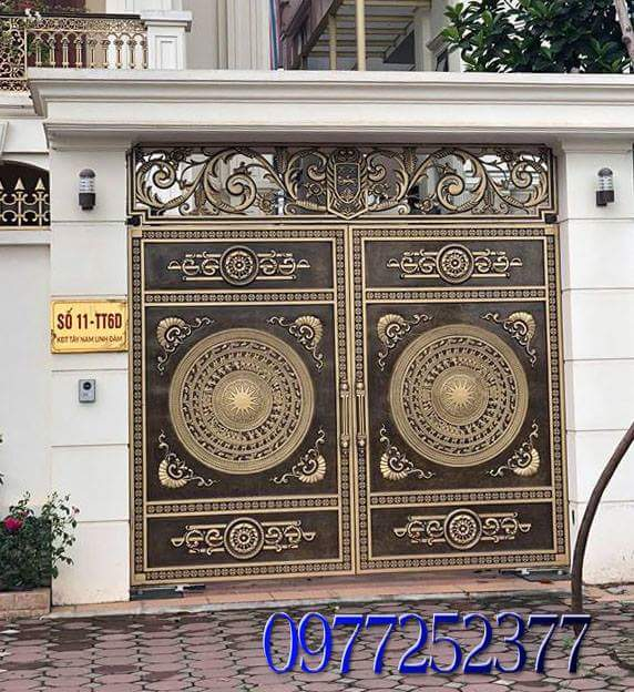 cổng nhôm đúc CQD 18