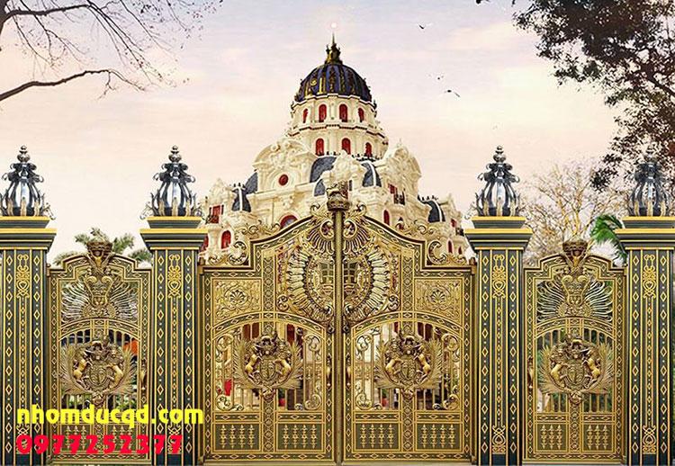 Thi công cổng nhôm đúc tại Hà Nội