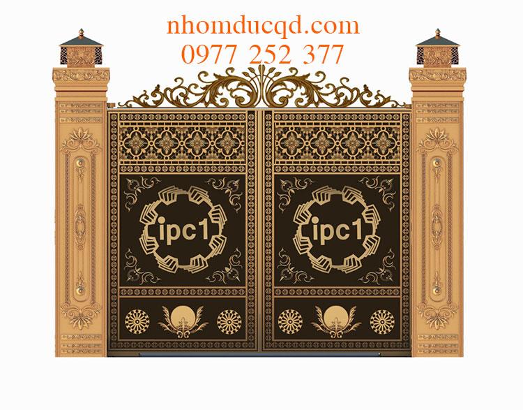 Lắp dựng cổng nhôm đúc tại Hòa Bình