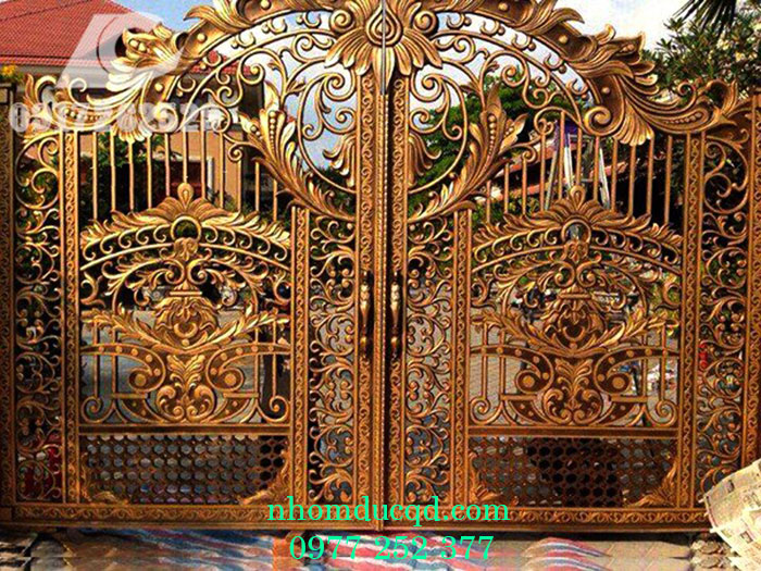 Cổng nhôm đúc tại Vĩnh Phúc giá rẻ, uy tín, chất lượng