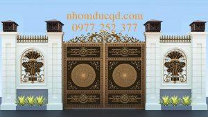 Mẫu cổng nhôm đúc đẹp tại Hà Nam
