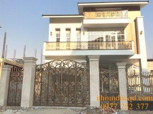 Thi công cổng nhôm đúc tại Thái Nguyên